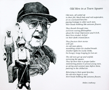 """Old Men in a Town Square"" poem by Helen Anthony"